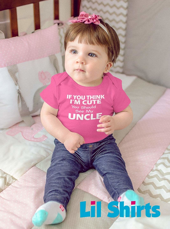 Future Genius Just Like My Uncle Cute Newborn Toddler Baby Bib