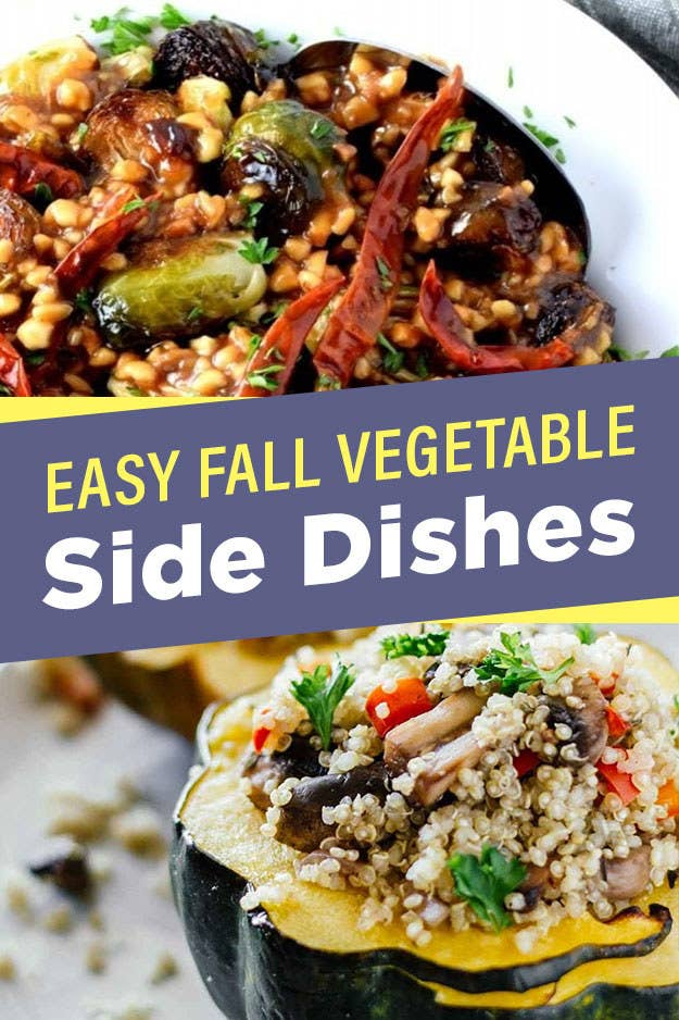Easy Vegetable Side Dishes To Make This Fall