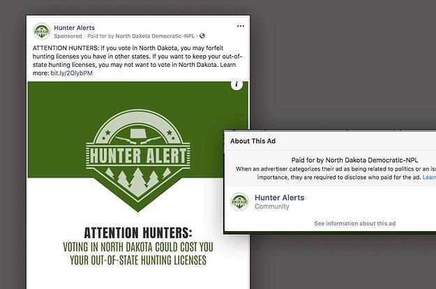 north dakota democrats ran a misleading facebook ad discouraging