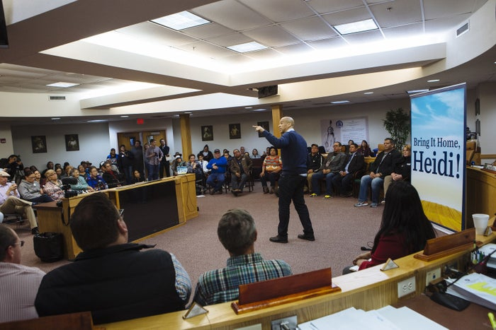 Sen. Cory Booker speaks at the Standing Rock Sioux Tribal Headquarters during a campaign stop for Sen. Heidi Heitkamp in Fort Yates, North Dakota, on Nov. 2.