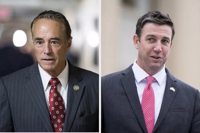 Chris Collins (left) and Duncan Hunter.