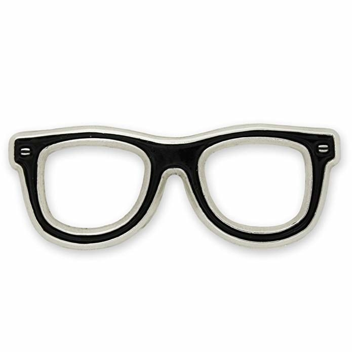 b830cc6dfec A glasses lapel pin to enhance any spectacle wearer s wardrobe.