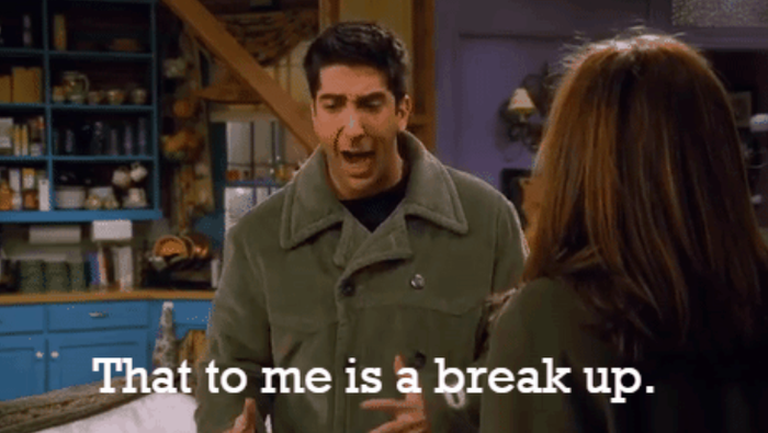 """Perhaps the most enduring debate in Friends history was whether or not Ross cheated on Rachel while they """"were on a break."""" Rachel maintained that Ross was unfaithful while he disagreed. But this theory suggests that Ross really did believe he was innocent because he was taught a different definition of the term """"break"""" by his ex-wife Carol."""