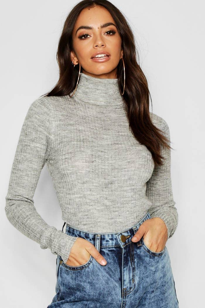 8730ff6505f5 A rib knit jumper you can tuck into high-waisted denim + you'll be ready  for that birthday dinner you didn't want to go to. Bonus points if you pair  that ...