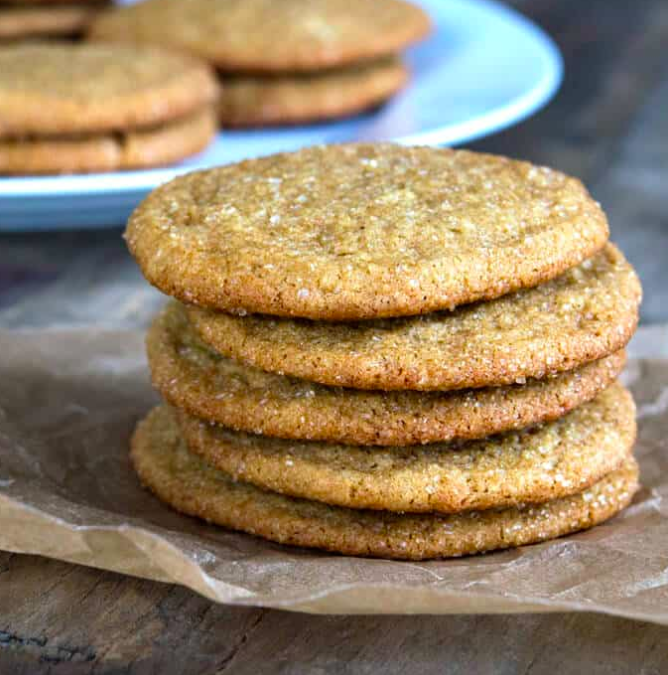 These spiced gingersnap cookies are made with a handful of warming spices, including black pepper, to give them an unexpected pop of heat. Get the recipe.