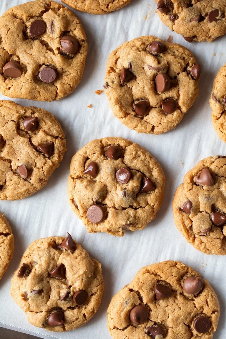 Flourless Peanut Butter Chocolate Chip Cookies  -  These cookies are made with only six ingredients and combine all of the best aspects of peanut butter cookies and chocolate chip cookies all in one. Get the recipe .