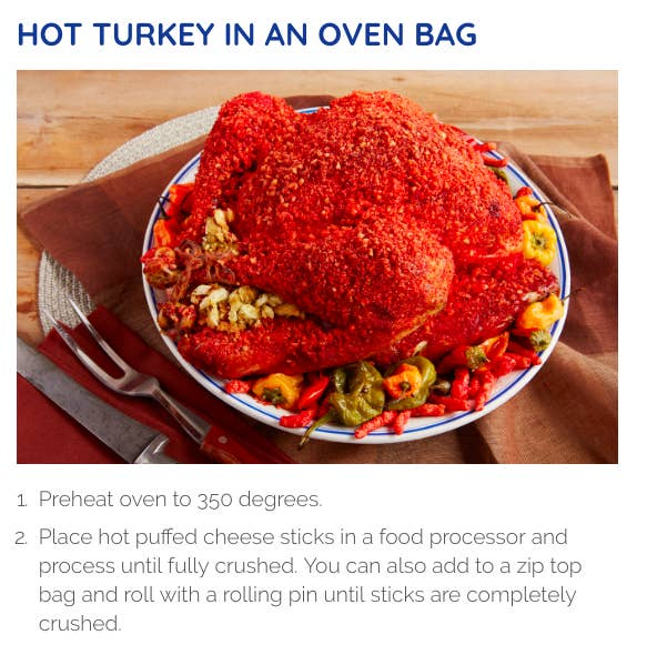 People Are Reacting To A Hot Cheetos Turkey Recipe Shared By ...