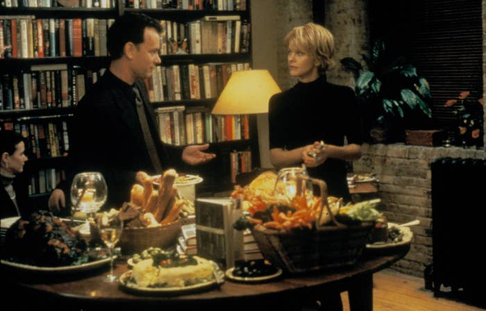 Tom Hanks and Meg Ryan in You've Got Mail, 1998.