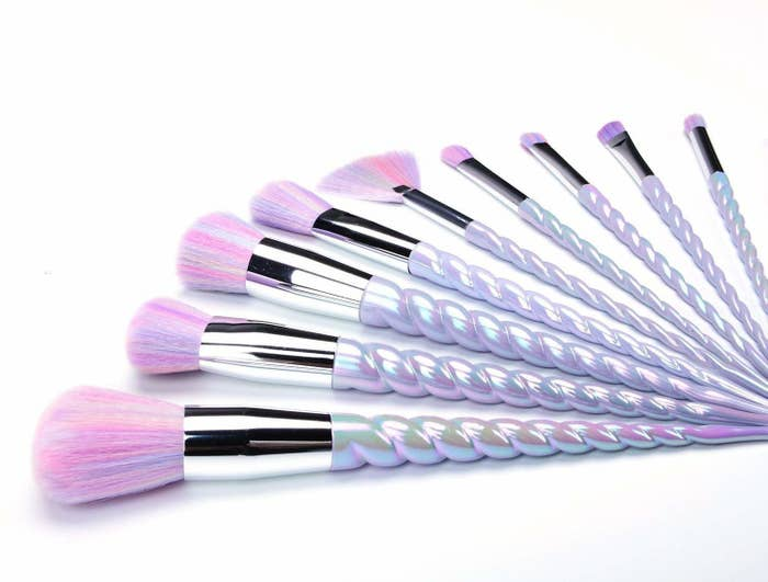 """Promising review: """"Honestly was very surprised with how soft the bristles on the brush were. The handles feel like cheaper plastic, but for the price of the product and the quality of the bristles, definitely worth the purchase."""" —Amazon CustomerGet them on Amazon for $13.99; also check out a 10-piece mermaid set for $12.99."""