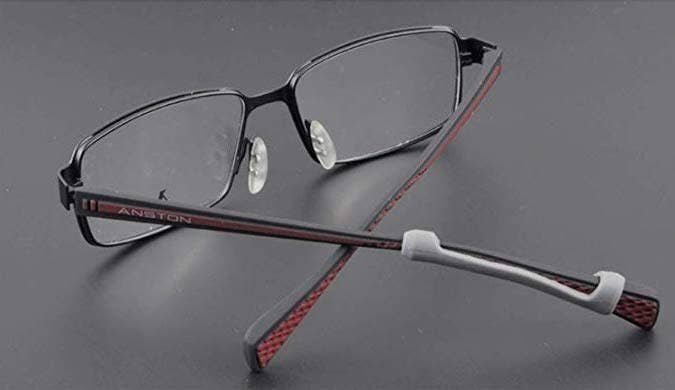 50d5aec453 Silicone temple tip sleeves to alleviate pressure from wearing glasses  while providing anti-slip qualites.
