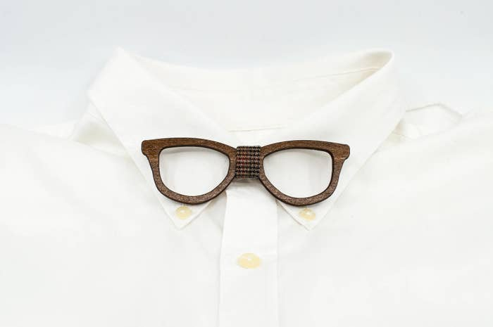 38876d41e638 A handmade wood glasses bowtie for a fun playful touch to wear at any  occasion.