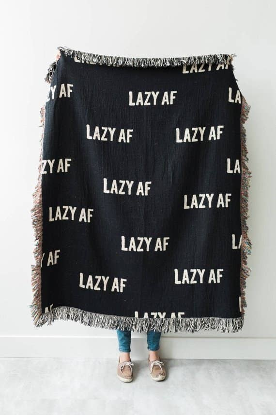 25 A Witty Throw Blanket For The Girl Whose Hobbies Solely Include Napping And Binge Watching Episodes Of Office