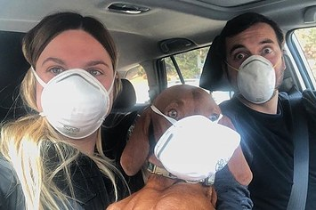 These Air Mask Selfies Show Just How Bad The Wildfire Smoke Is In California