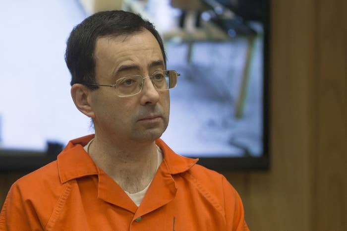 Former MSU and USA Gymnastics doctor Larry Nassar in court for his final sentencing phase, Feb. 5, 2018.