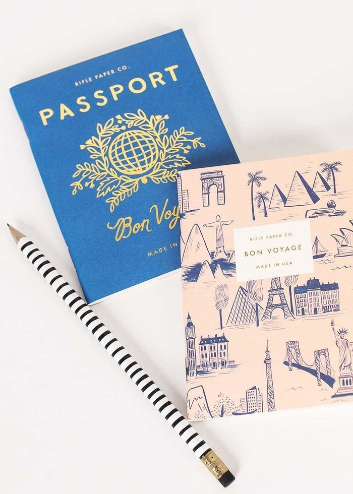 "Promising review: ""These are very cute little books! I plan to use them to collect passport stamps to create little memory books on upcoming trips. The blank pages are perfect for my purpose."" —LauraPGet it from Amazon for $10."