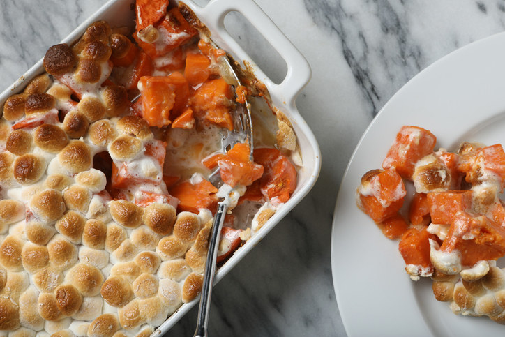 Sweet Potato Casserole -  I understand that sweet potato with marshmallows is controversial, but I like them. I'm also totally cool with savory ones, too.