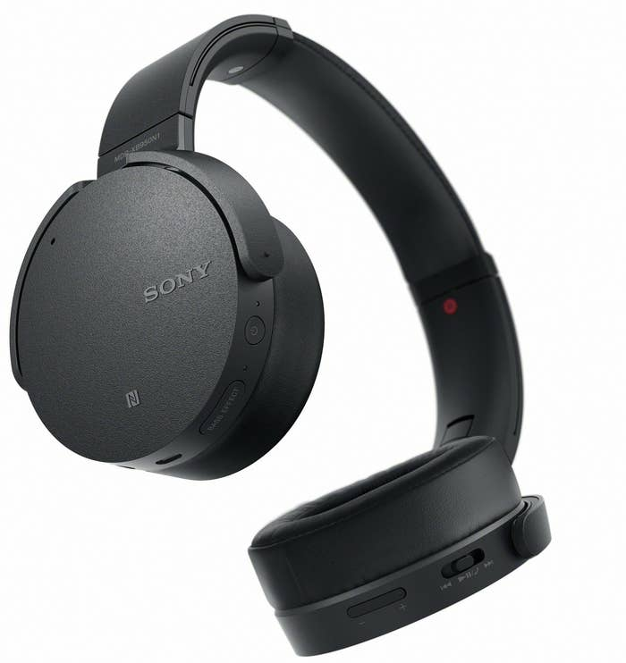 c8d502d7151 Sony Wireless headphones have extra bass for that boom boom you've fallen  in love with constantly, as well as a noise-canceling function so you can  drown ...