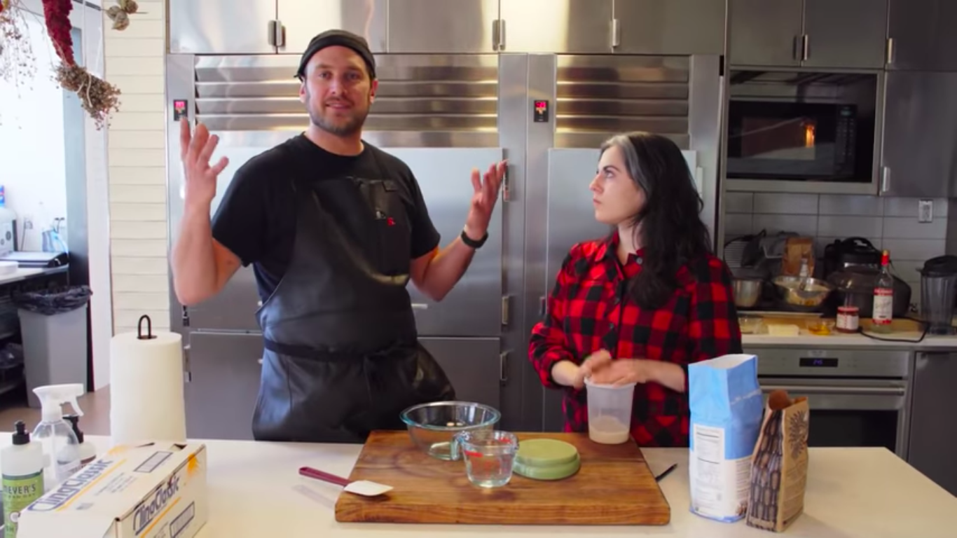 Brad Leone and Claire Saffitz make sourdough for a crossover episode of It's Alive.