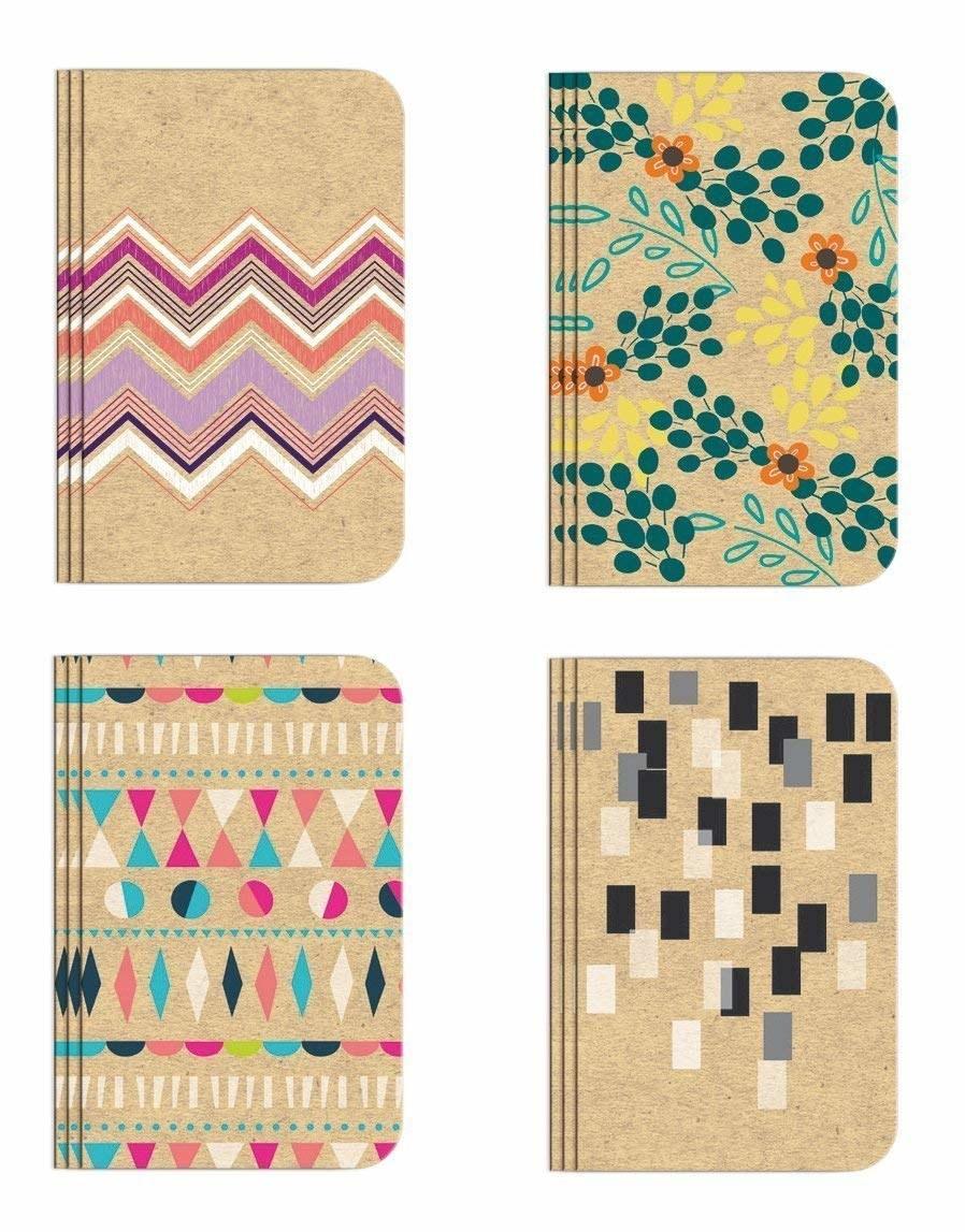 various patterned slim notebooks