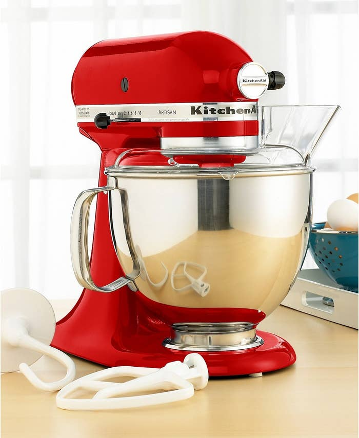 """There are a bunch of different KitchenAid mixers and attachments on sale right now — check out the full selection to snag yours!Price: $279.99 (originally $474.99; available in 28 colors)Promising review: """"This is the best mixer I have ever used. I have it in red, and it is so pretty I leave it on the counter and never put it away! More important... it mixes so well! I never have unmixed ingredients at the bottom like my old mixers. Anyone wanting a mixer should invest in this. It is well worth the extra money and will be the last mixer you'll ever need! Buy quality!"""" —Baker14"""