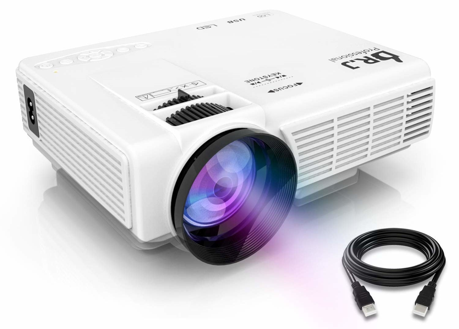 """Get it from Amazon for $89.99.Promising review: """"Very happy with this projector. Even though the dimensions are listed, I was still a bit surprised a how small the unit actually is. Even with the projector 15 feet away from the screen it is quite bright, certainly bright enough for a movie outdoors, which is what we bought it for to begin with. I was also pleased to find out I can plug my Roku Streaming Stick+ directly into the HDMI and USB port which made for a very small footprint of stuff I need to bring outdoors to project a movie. All in all very happy with the performance and price of this unit."""" —Gary C."""