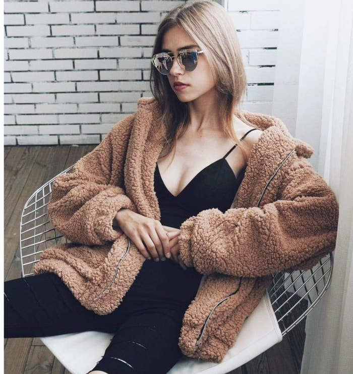 """""""Trendy clothes. The teddy bear jacket is a good option."""" —maggienorahbruceGet it from Amazon for $7.89+ (available in seven colors, and sizes S–3XL)."""