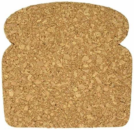 bread slice shape cork drink coaster