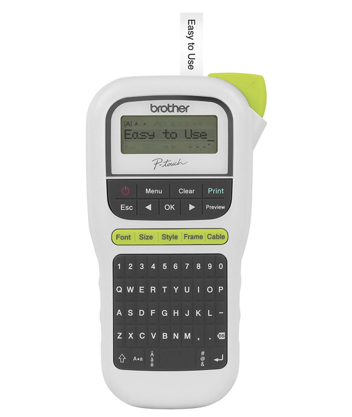 "This label maker includes 3 fonts, 14 frames, and more than 250 symbols. Promising Review: ""I got this at a great price. It has multiple fonts, sizes, and even features a cable mode. Being in IT, I use this often. The great part is that when you go to cable mode, it keeps your settings separate from your normal label mode. The cable mode is just where it prints the label on two pieces so you can wrap it around a cable. The sample labels that comes with it are generous as well. I've printed quite a few cable labels and I still have at least half the roll left."" —JesusGet it from Amazon for $24.99+ (available with or without a roll of tape)."