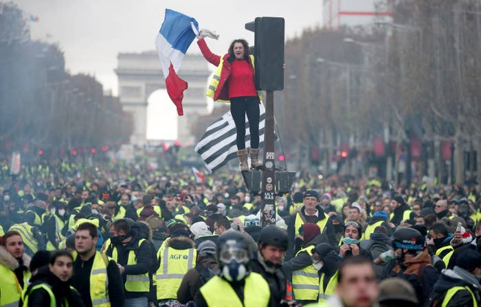 They want Macron to roll back taxes on diesel and gas, which his government claims were introduced to encourage the use of more eco-friendly forms of transport.