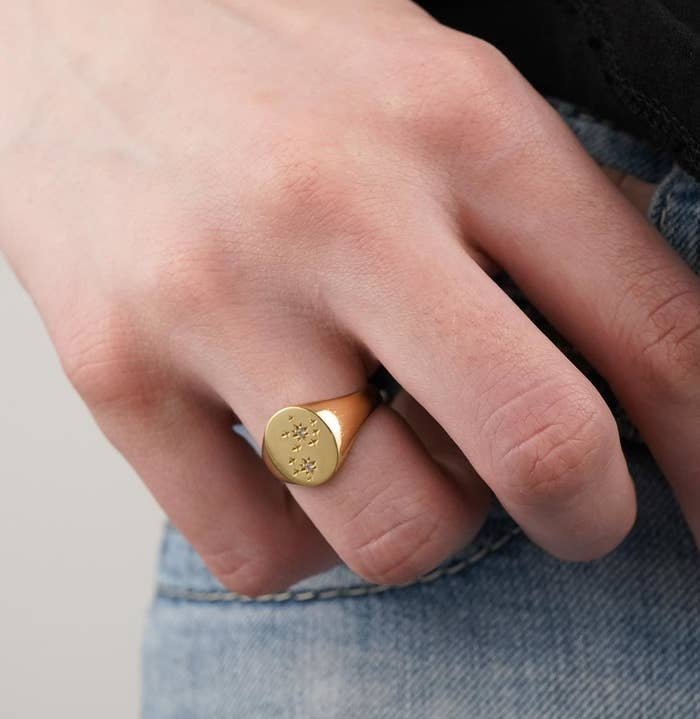 Mejuri is a direct-to-consumer brand that offers gorgeous, quality jewelry at a fraction of the price. This ring? Traditional retailers would mark it at $185. Shop the zodiac collection at Mejuri starting at $69.