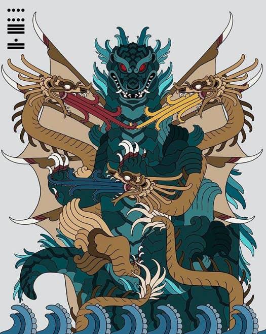 Sí, es Godzilla enfrentando a su archienemigo, Ghidorah.