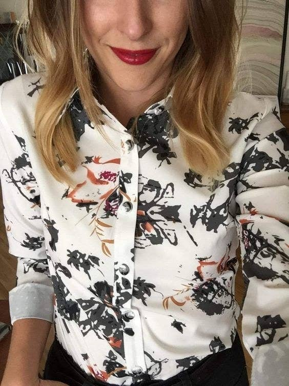 b08e9f94 27. A pretty printed button-up you can def spill coffee on without anyone  really noticing.
