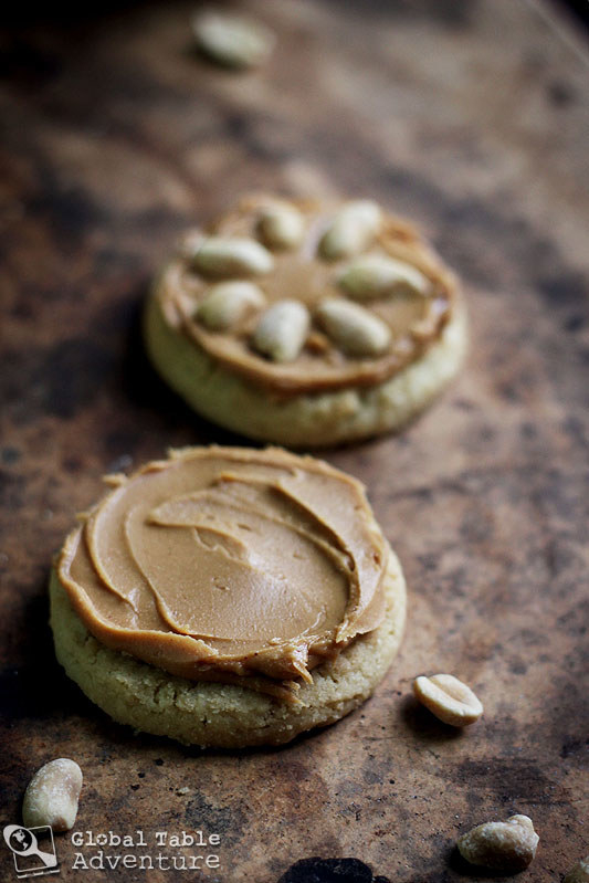 What is it: Sugar cookies topped with peanut butter and chopped peanuts.Get the recipe.
