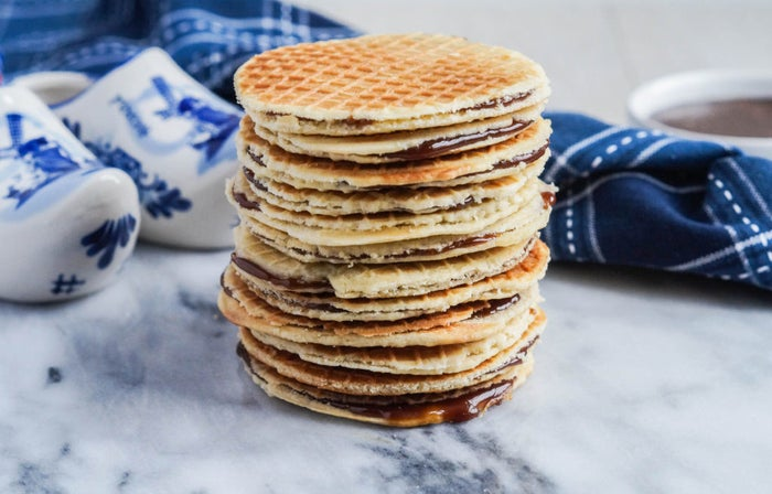 """What is it: Waffle sandwich with caramel filling.""""Every non-Dutch person I've introduced to stroopwafels has become absolutely obsessed and I totally understand why. They are the best cookies/biscuits ever, especially when fresh from a market stand or warmed up over a hot cup of tea.""""—marith3Get the recipe."""