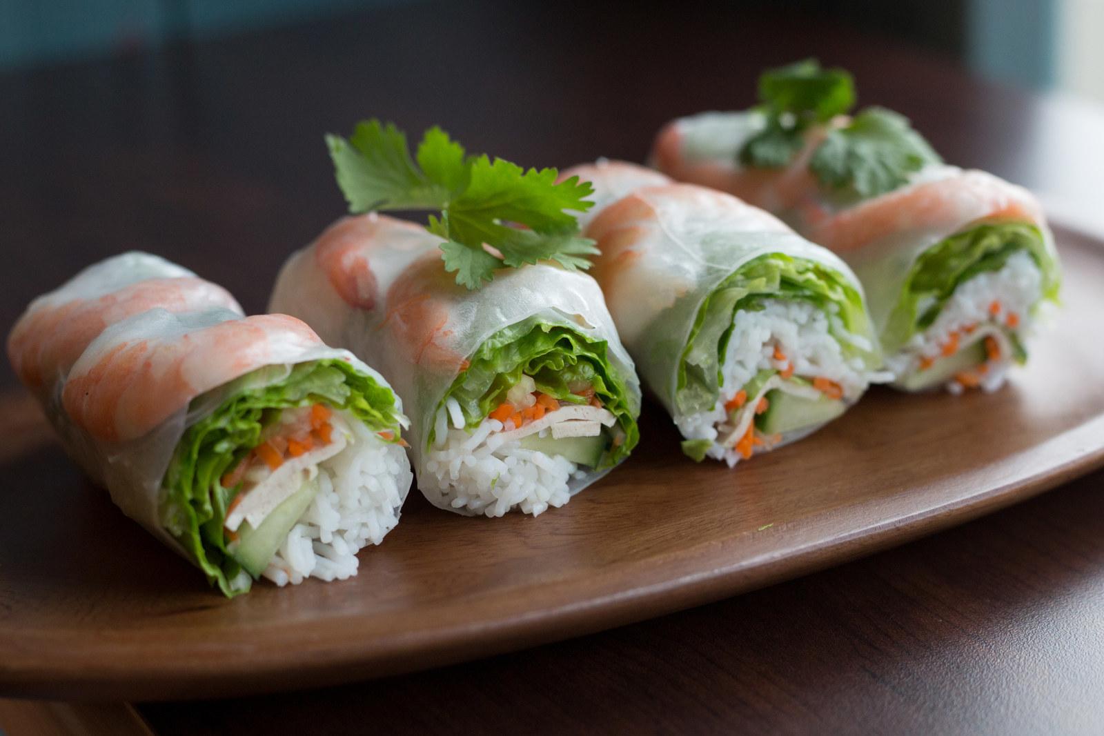 Most popular order: Thai spring rolls