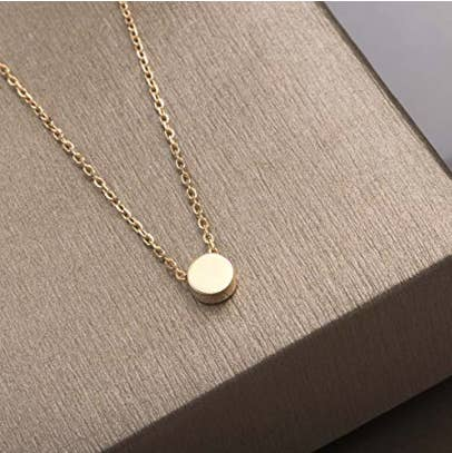 CZ Layering Necklace Semi-Circle Crystal Charm Necklace Minimalist Rose Gold Plated Delicate Chain Dainty Bridal Jewelry