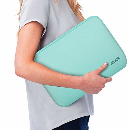 person carrying a laptop holder