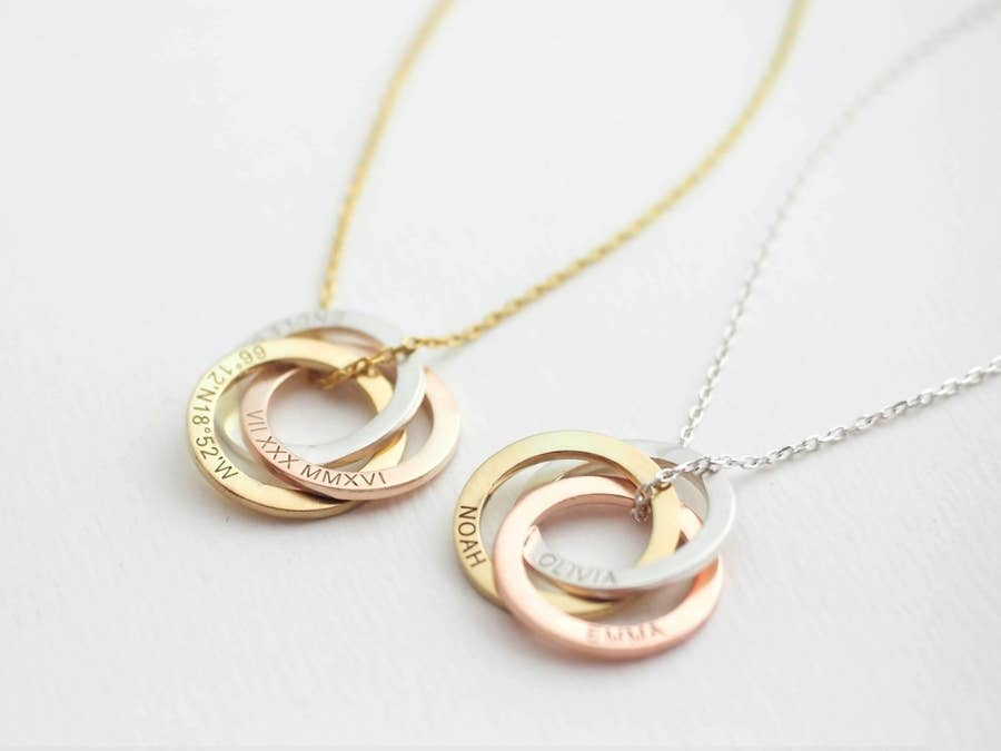 REAL Silver Star Rose Gold Heart Necklace Sister Gift Jewellery Birthday Presen