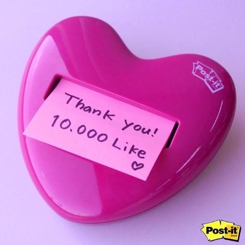 heart shape sticky note holder