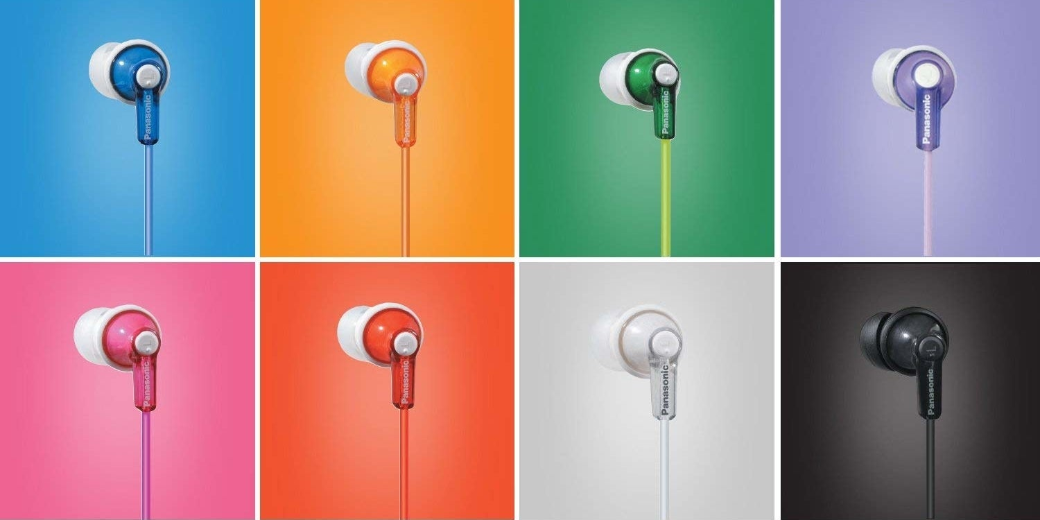 the earbuds in different colors