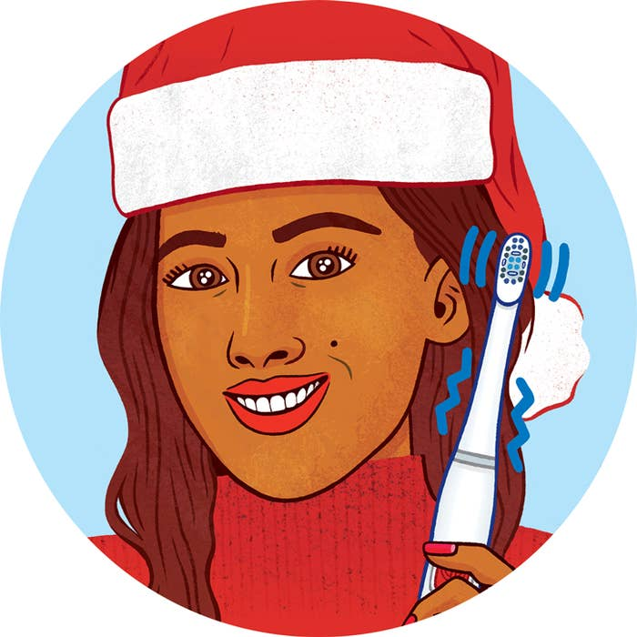 We tend not to talk about it often, but your dental hygiene is super important, especially around the holidays! So while enjoying your favorite sugary treats, steer clear of cavities by using a battery powered toothbrush, perfect for at-home holidays or if you're on the go.