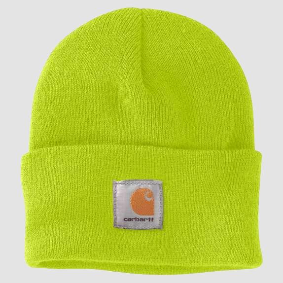 Neon green Carhartt beanie