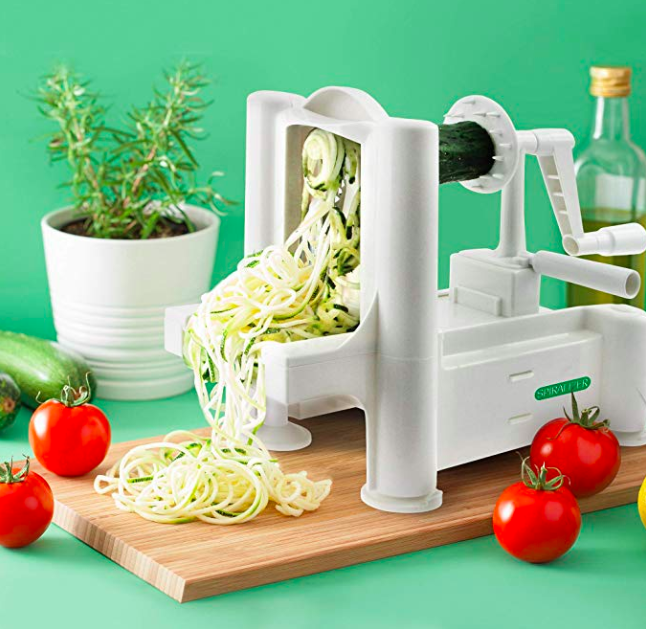 Whether they're on a keto diet, or simply trying to incorporate more vegetables into their lives, this little gadget will help them spiralize their favorite vegetables and craft bowls, noodle dishes, and more.Get it on Amazon for $24.99.