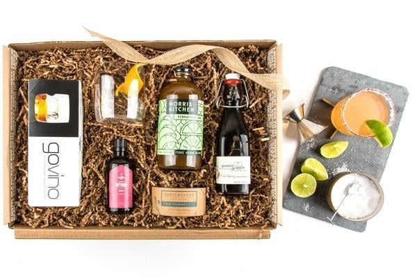 This curated box comes with everything they'll need to whip up a delicious tequila drink! The set contains two glasses, rim salt, bitters, pineapple lime mixer, and cherry grenadine.Get it from Mouth for $92.50 (also available in gin, vodka, old fashioned, Bloody Mary, and Moscow mule kits.