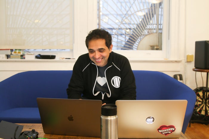 Sandeep Swadia in White Ops' New York City offices on Nov. 26.