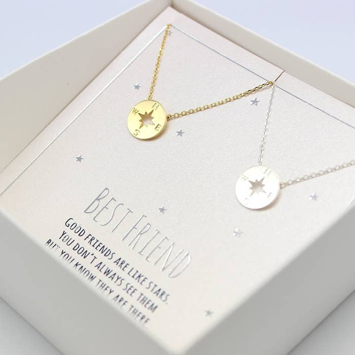 c81f4703bd7 A set of matching necklaces to share with your best friend in the entire  world.