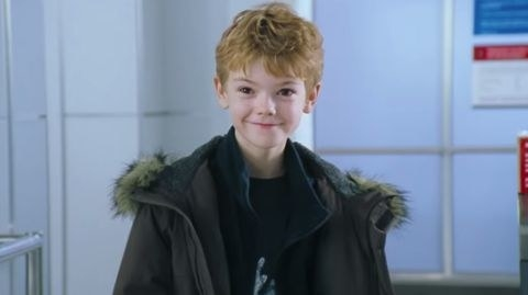 Thomas Brodie-Sangster as Sam in  Love Actually : - Fun fact:  Brodie-Sangster and his crush in the movie Olivia Olson reunited as love interests when Brodie-Sangster voiced Ferb in  Phineas and Ferb , and Olson voiced his love interest, Vanessa Doofenschmirtz.