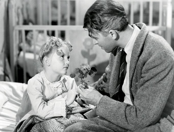 Karolyn Grimes as Zuzu Bailey in  It's A Wonderful Life : - Fun fact:  Grimes didn't see the film until  34 years later  in 1980.