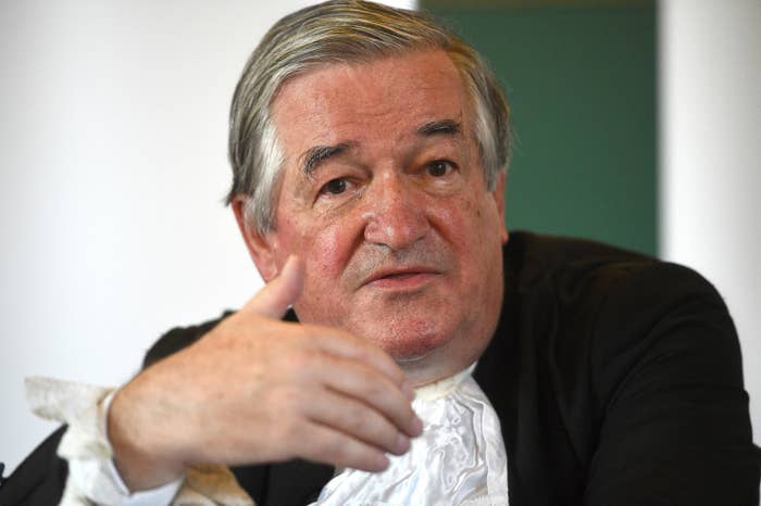 Sir James Munby on his last day as president of the Family Division at the Royal Courts of Justice in July.