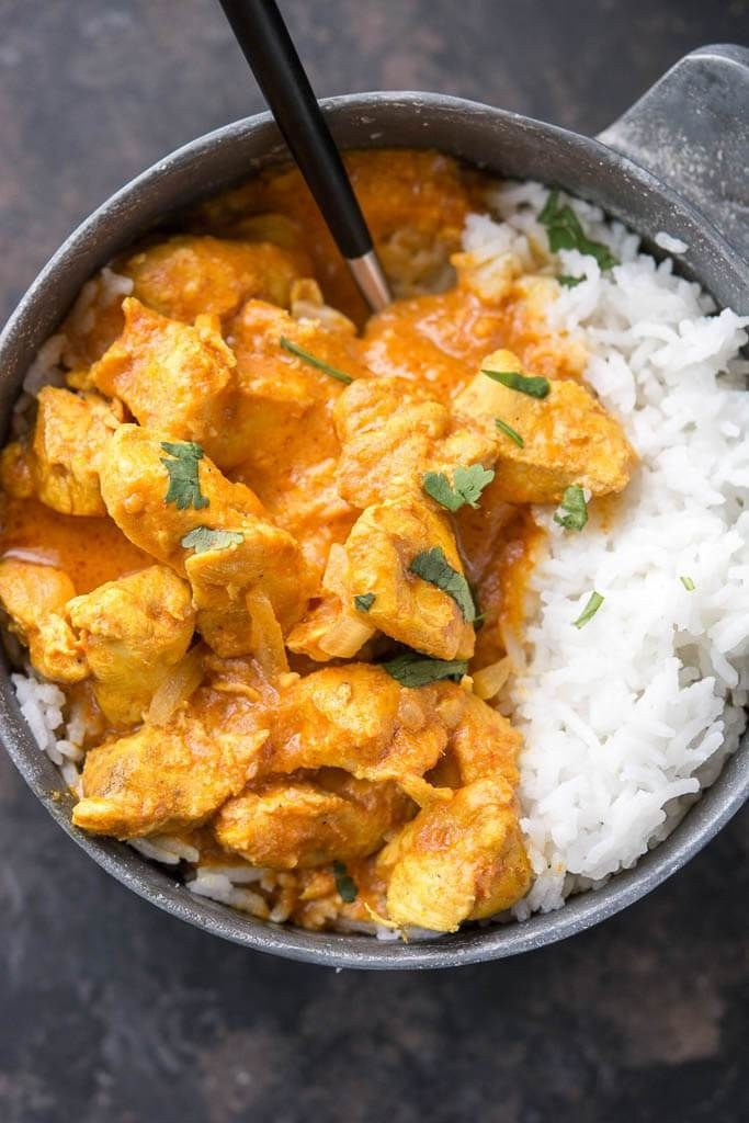 Before you order in from your favorite local Indian restaurant, try this hands-off recipe at home. Serve it with some microwave rice and frozen naan. Get the recipe.